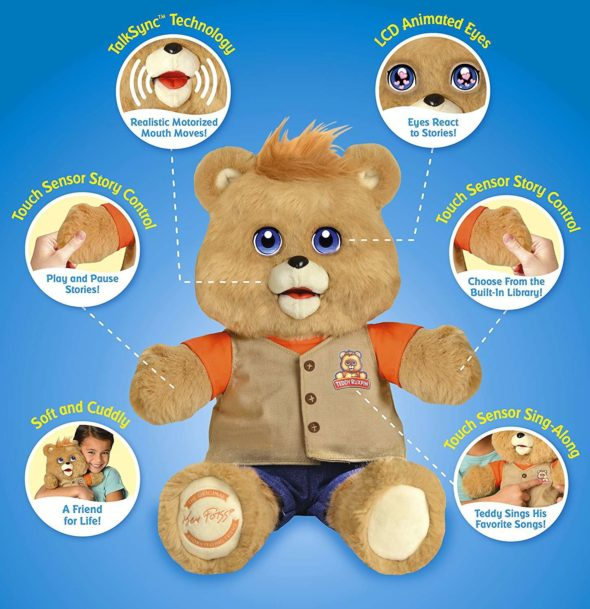 2017 Teddy Ruxpin LCD Eyes Features