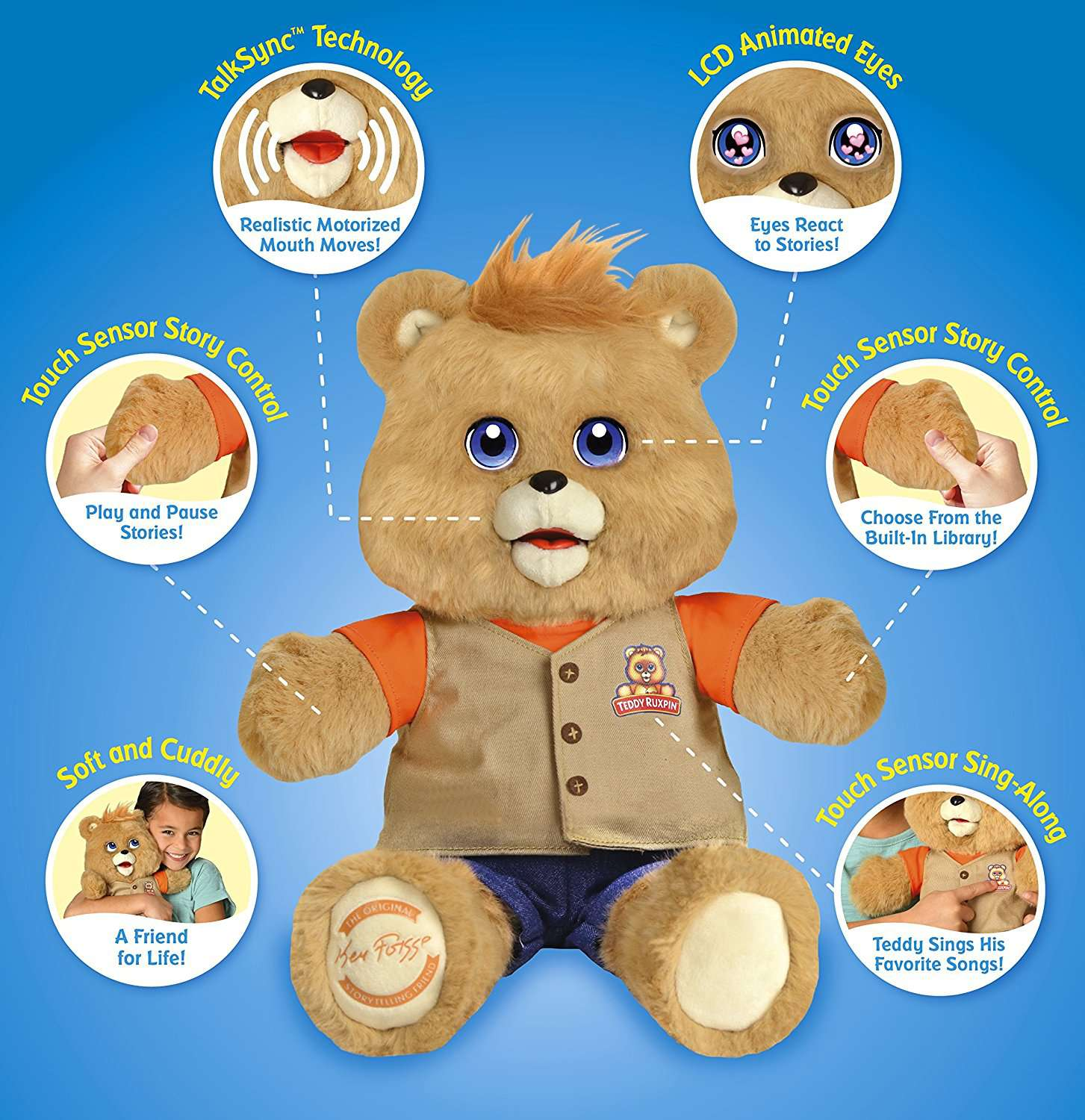 2017 Teddy Ruxpin Lcd Eyes Features Gadgetking Com