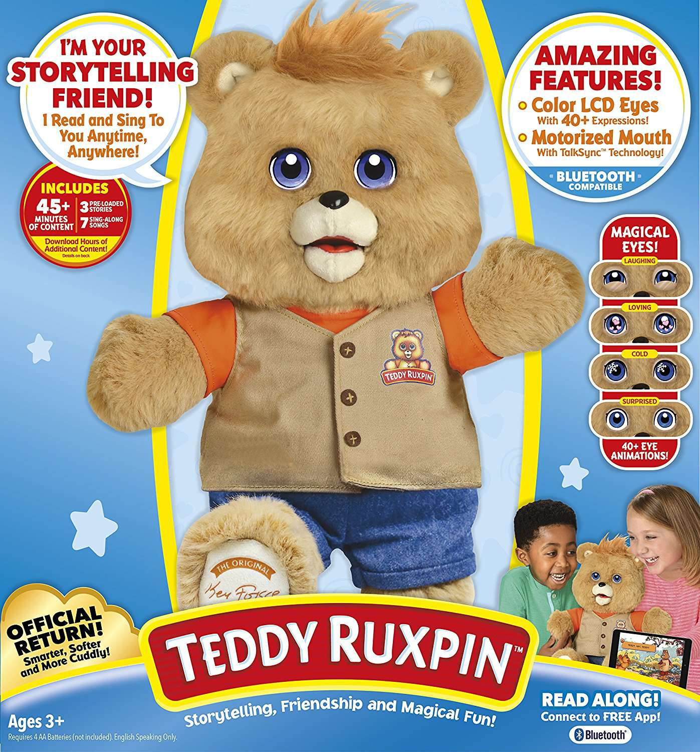 2017 Teddy Ruxpin LCD Eyes Packaging