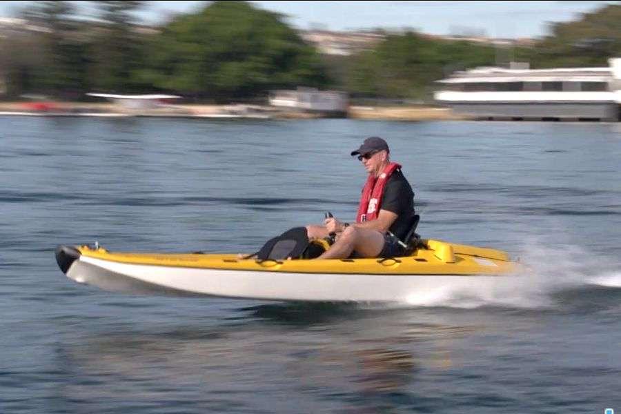 Jet angler a jet propelled fishing kayak for 2 man fishing kayak