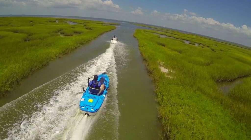 Jet Angler Jet Propelled Kayak Racing