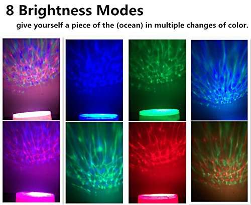Ocean Wave Light Projector Colors