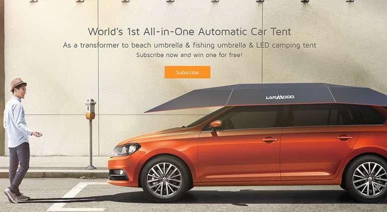 Automatic Remote Car Umbrella Tent Lanmodo