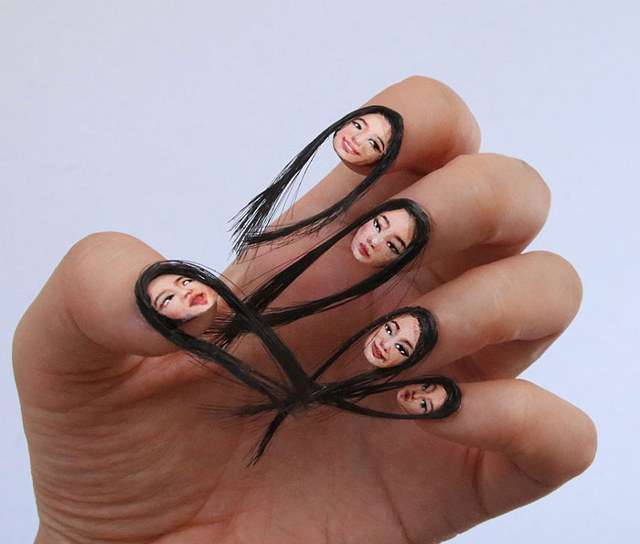 Dain Yoon Selfie Fingernails with Hair 2