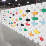 EverBlock Large Lego Blocks Tall Wall
