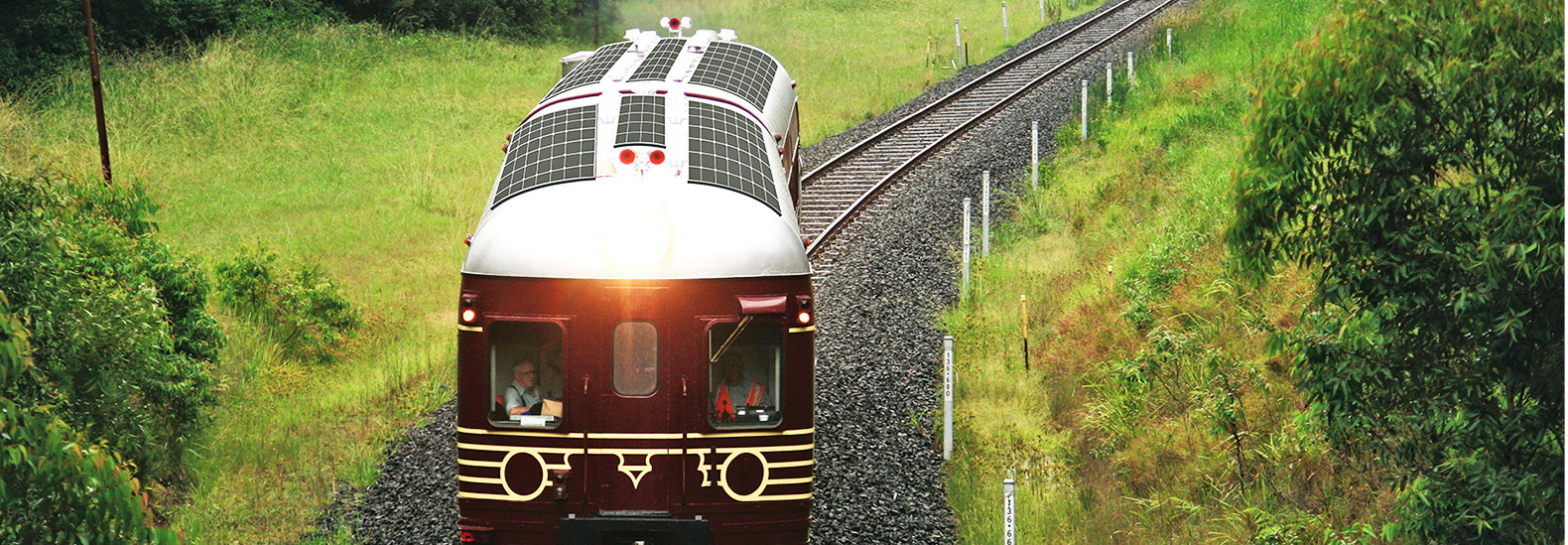 Byron Bay Fully Electric Solar Powered Train 1
