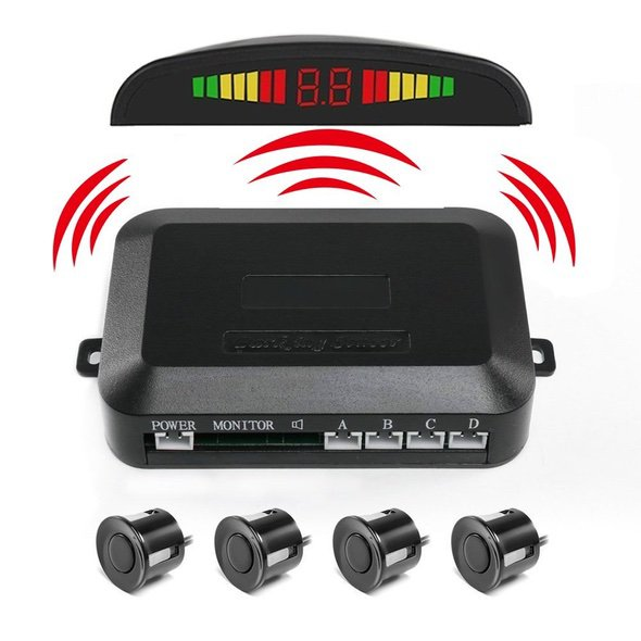Pemenol Wireless Vehicle Backup Sensor System Main Parts