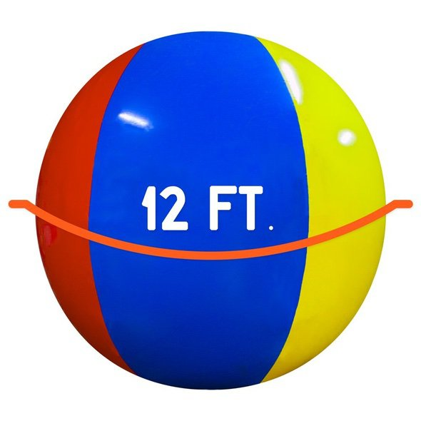 12-Foot Giant Beach Ball Diameter
