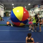 12-Foot Giant Beach Ball Indoors