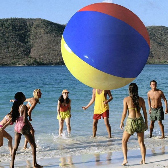 12-Foot Giant Beach Ball Play