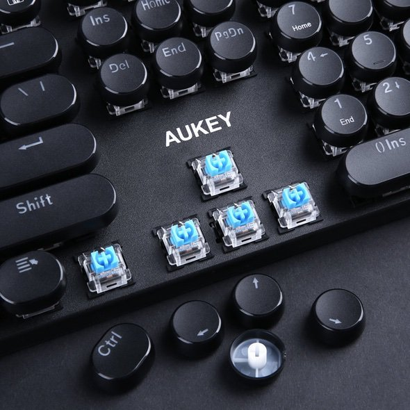 Aukey KM-G10 Mechanical Retro Keyboard Switches