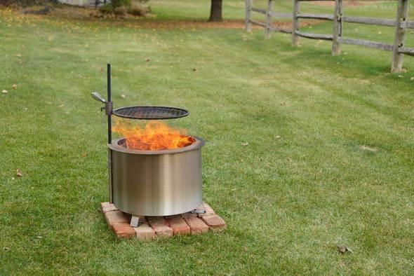 Breeo Smokeless Fire Pit Backyard