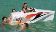 jimboat-electric-mini-boat-for-kids-In-Water