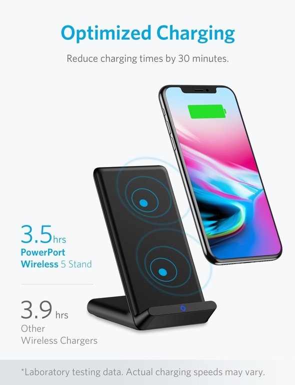Anker PowerPort Wireless 5 Stand Coil
