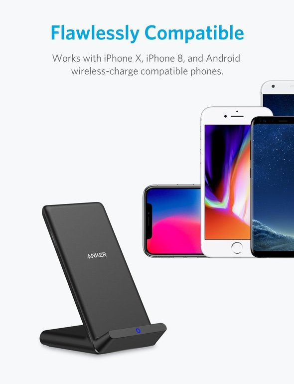 Anker PowerPort Wireless 5 Stand iPhone X