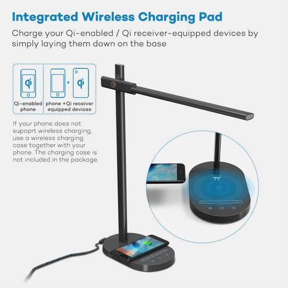 TaoTronics LED Desk Lamp Wireless QI Charger TT-DL031 Charging Pad