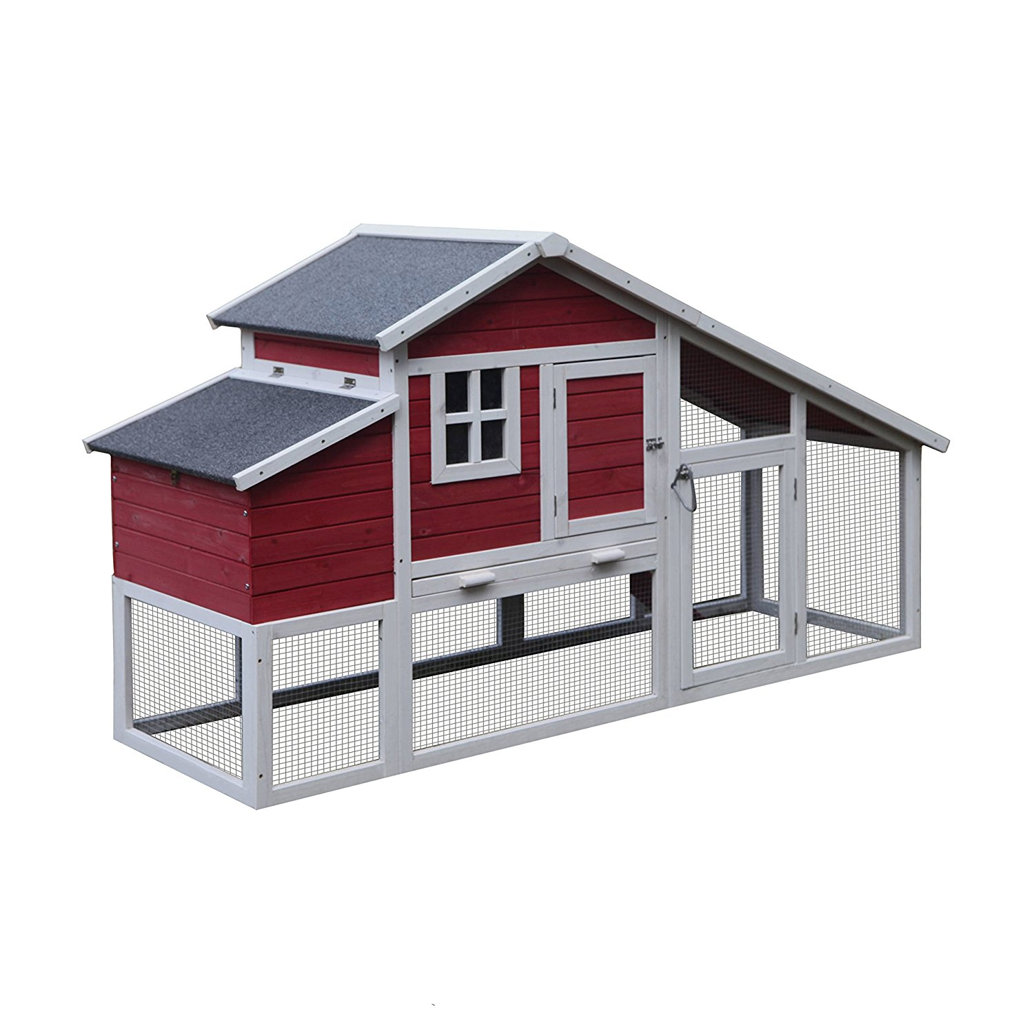 Alecko Wooden Chicken Coop 1