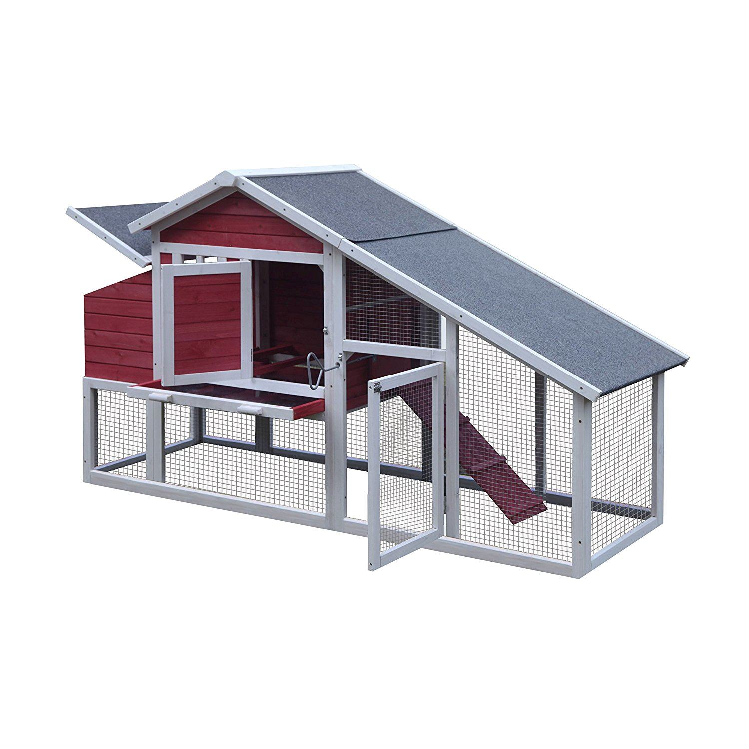 Alecko Wooden Chicken Coop 2