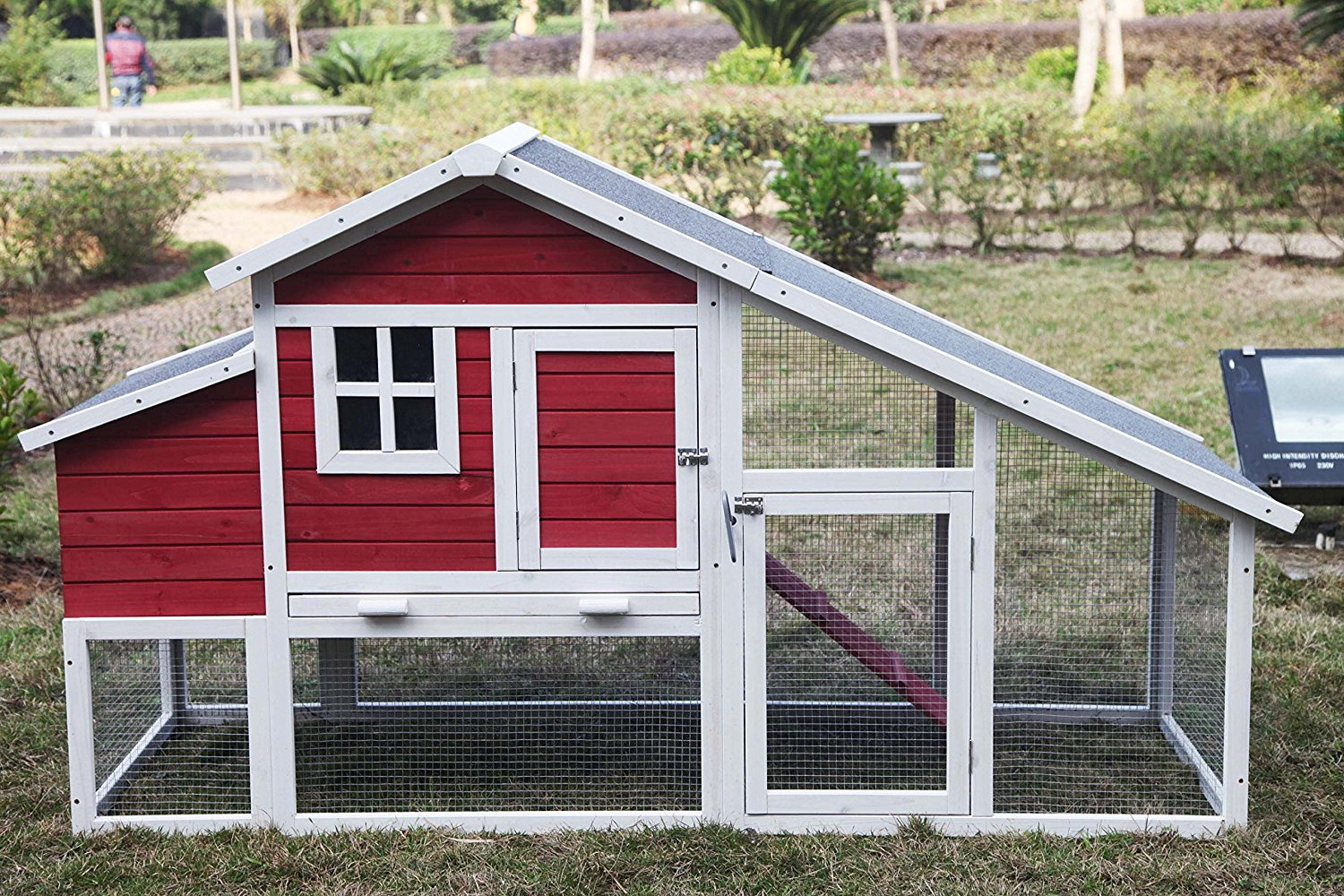 Alecko Wooden Chicken Coop 3