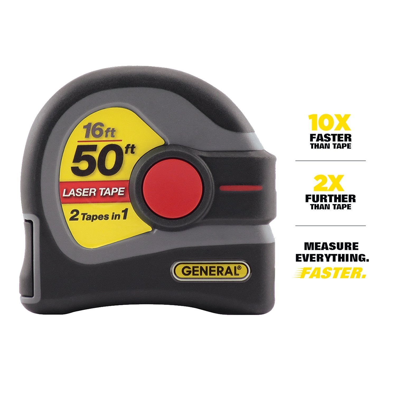 General Tools LTM1 2-in-1 Laser Tape Measure 3