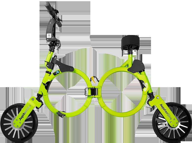 Jupiter Bike Electric Folding Bike Green