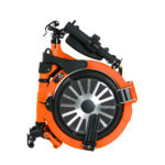 Jupiter Bike Electric Folding Bike Orange Folded