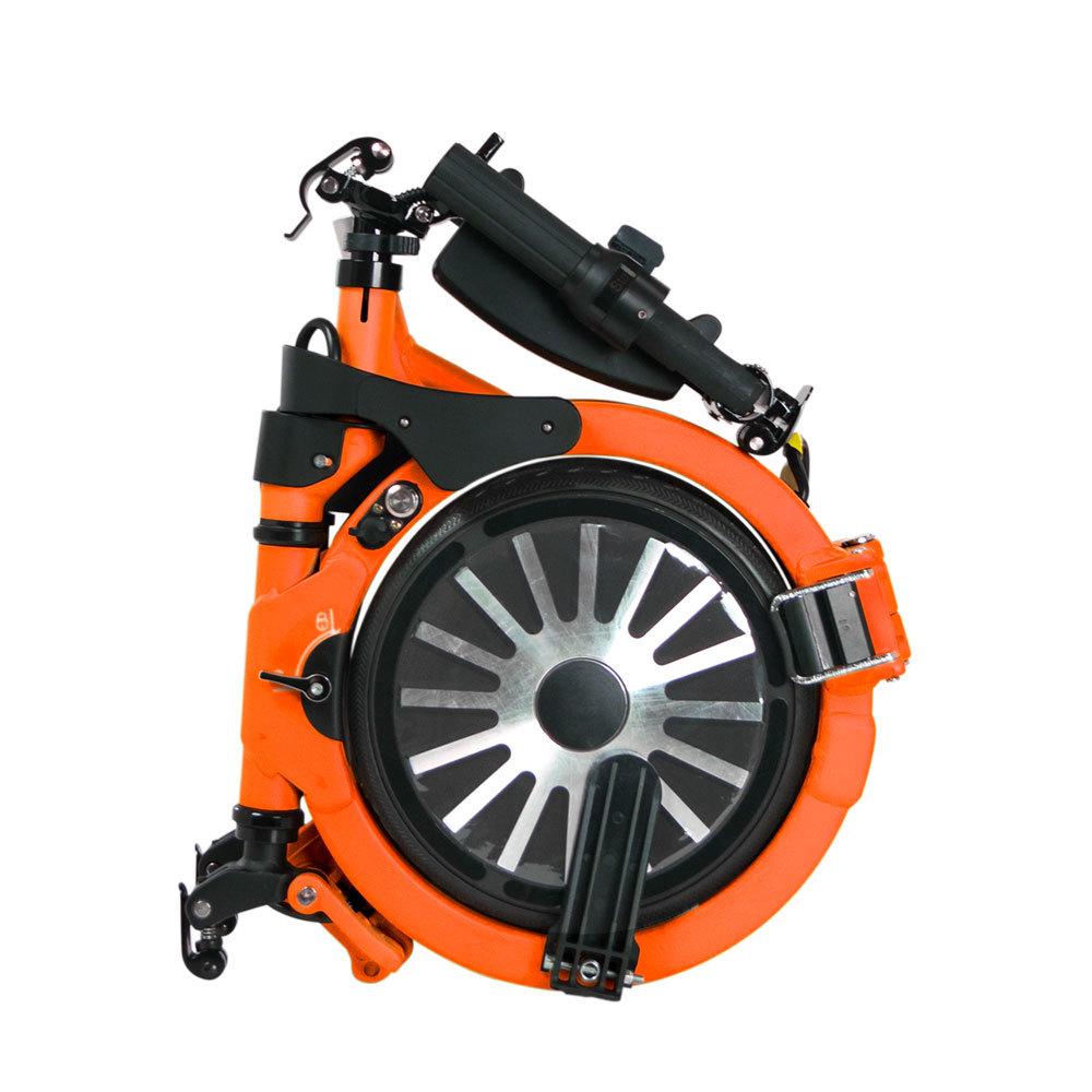 Jupiter Bike Electric Folding Bike Orange Folded