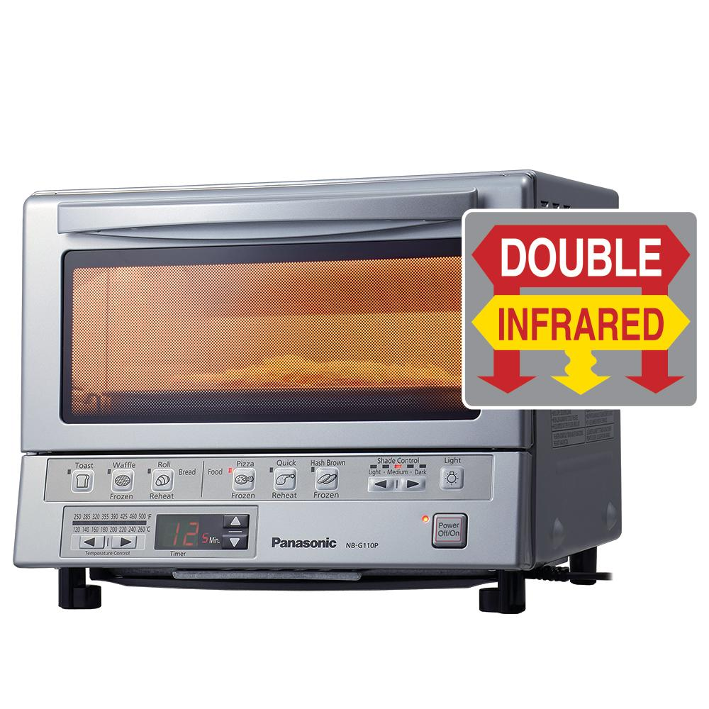 Panasonic NB-G110P Flash Xpress Toaster Oven Silver Front