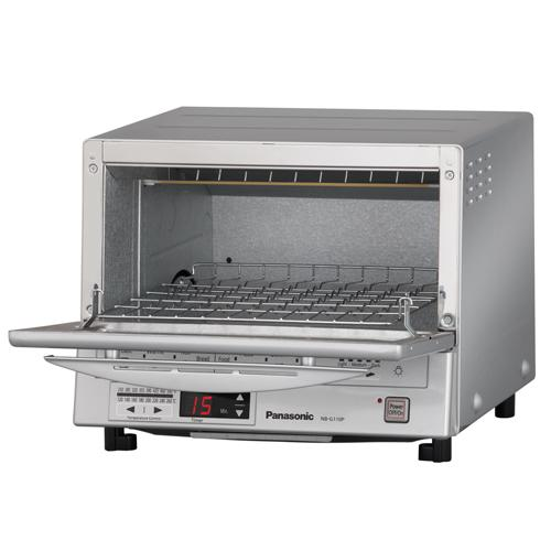 Panasonic NB-G110P Flash Xpress Toaster Oven Silver Open