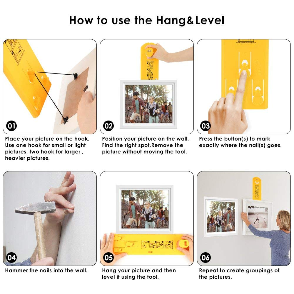 Easy Hanger Picture Frame Hanging Tool How To
