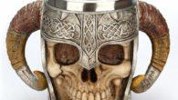 Medieval Skull With Horns Mug 1