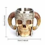 Medieval Skull With Horns Mug 3