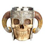 Medieval Skull With Horns Mug 4