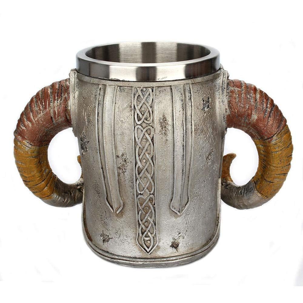 Medieval Skull With Horns Mug 5