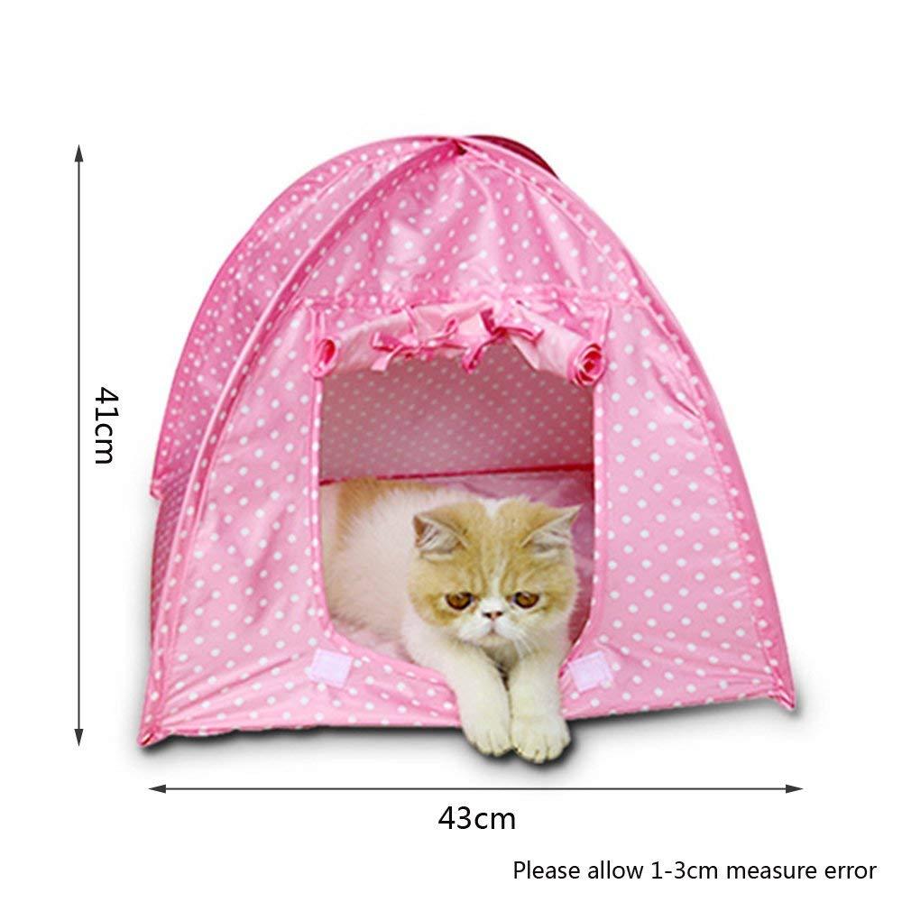 Pink Cat Camp Tent