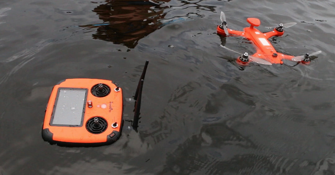 Spry Waterproof Drone and Remote Control Floating