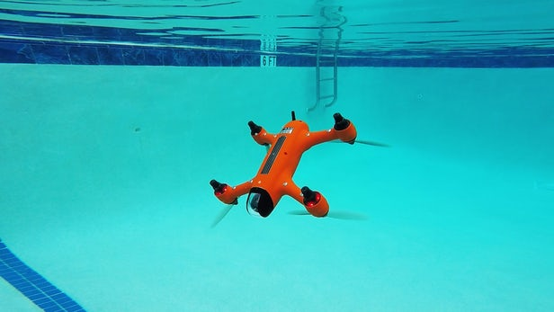 Spry Waterproof Drone and Remote Control Submerged