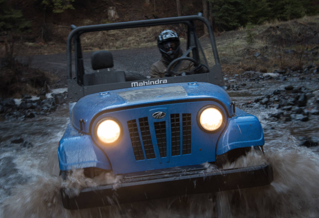 Mahindra Roxor Blue In Water