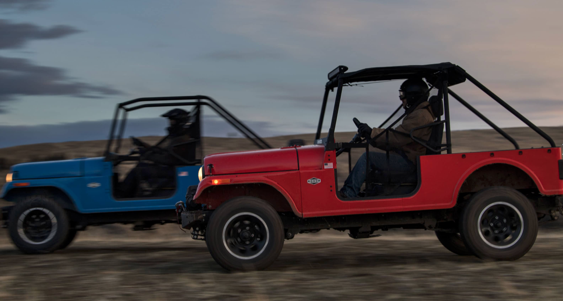 Mahindra Roxor Blue and Red