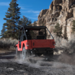 Mahindra Roxor Red Rear