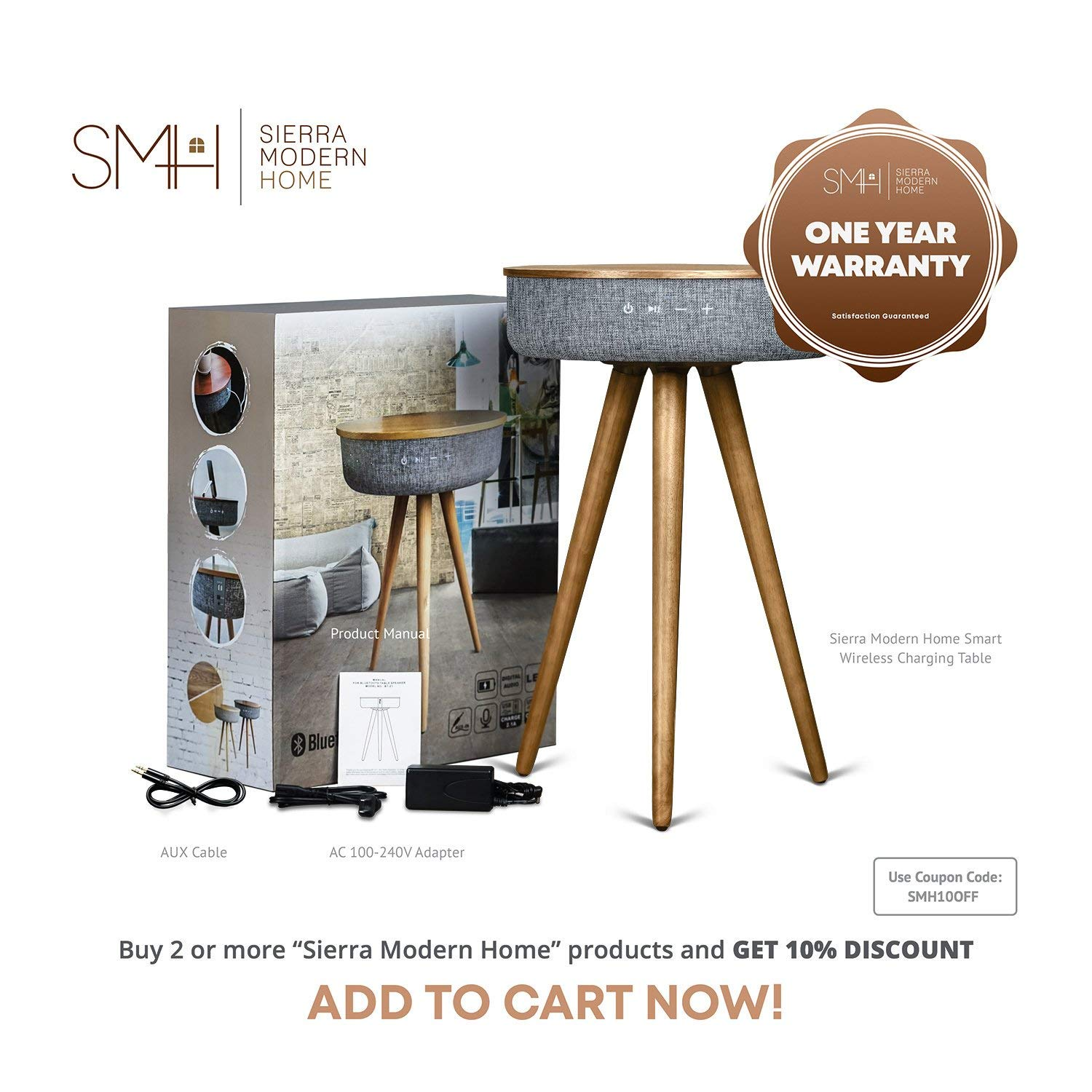Sierra Modern Home Studio Smart Table 2