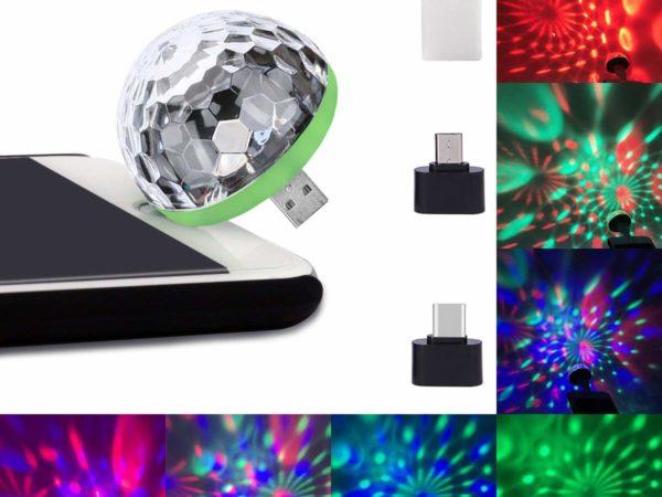 USB Lightning Micro USB USB-C Disco Ball 1