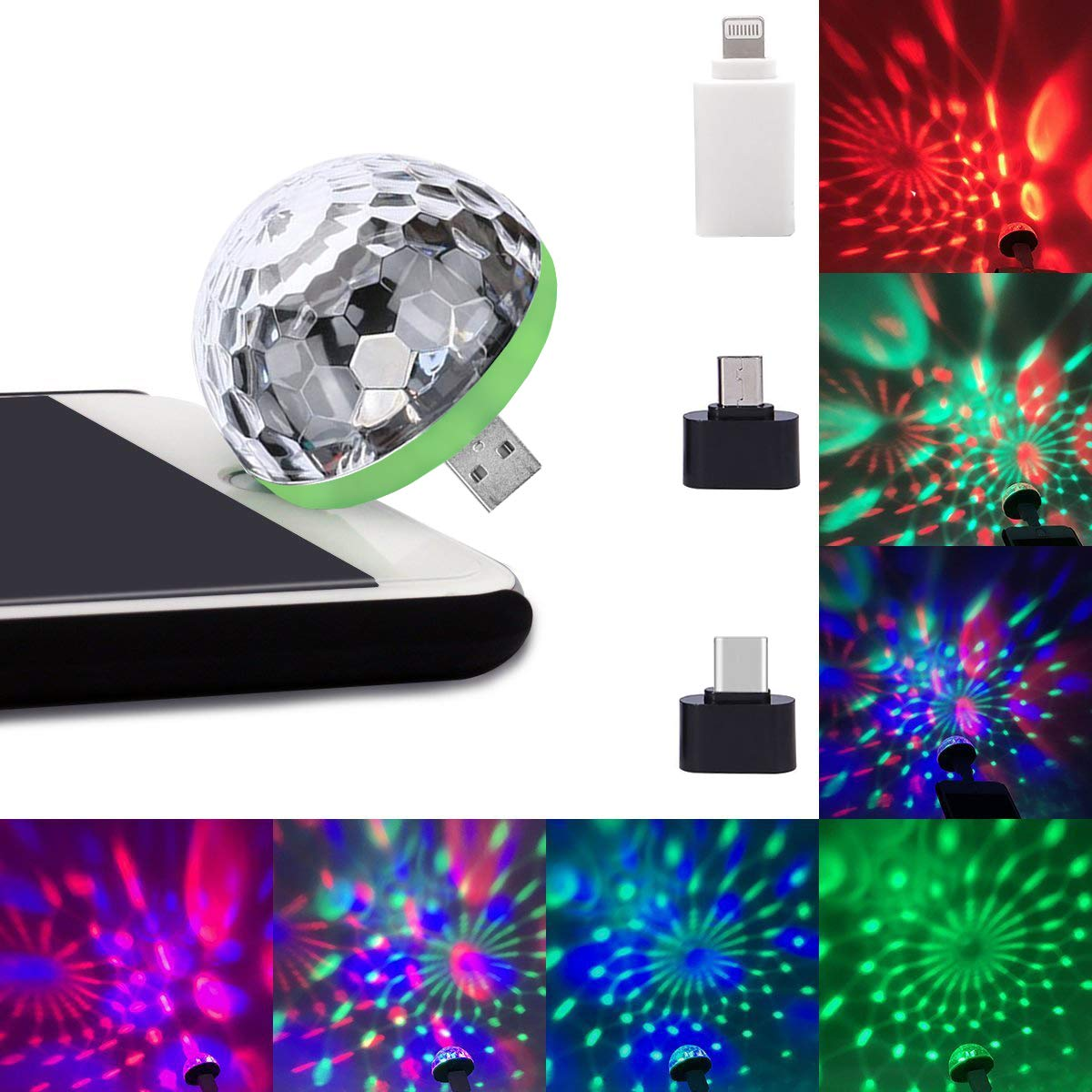 USB Lightning Micro USB USB-C Disco Ball 1