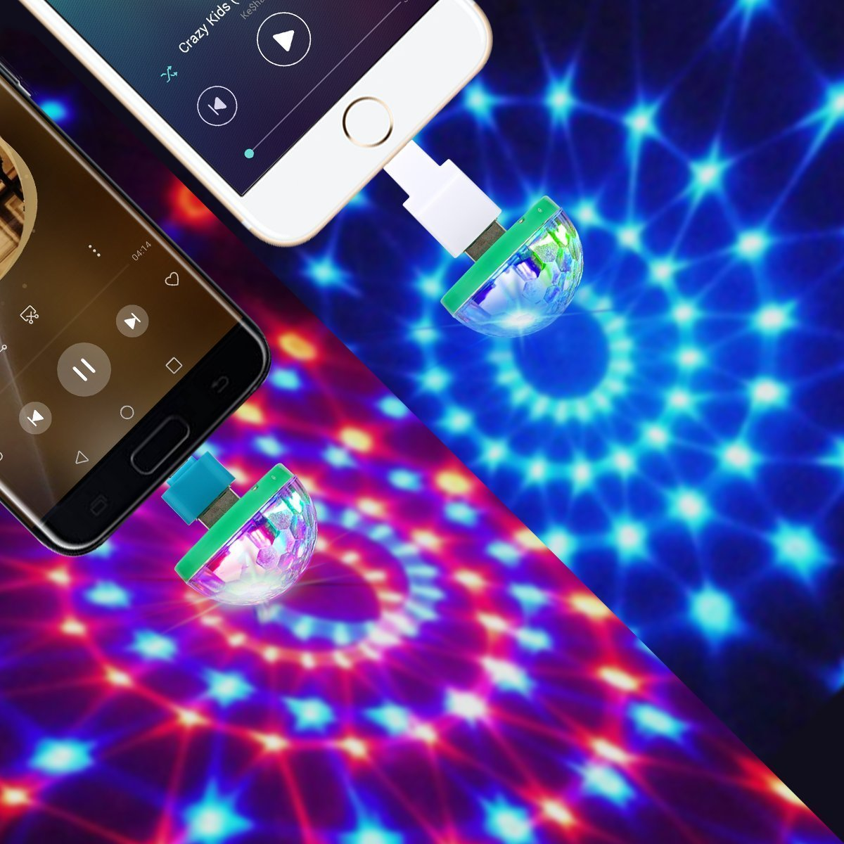 USB Lightning Micro USB USB-C Disco Ball 2