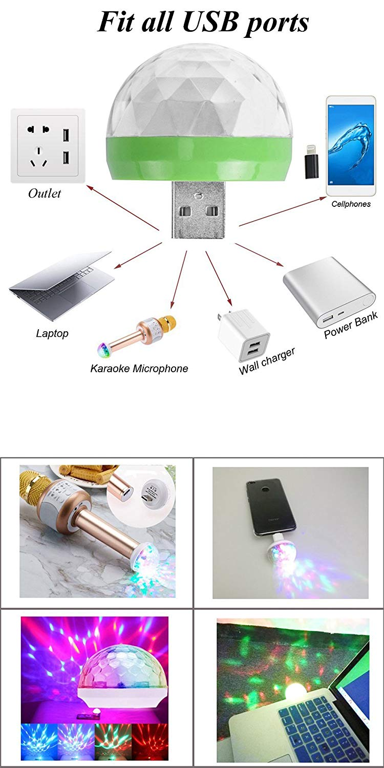 USB Lightning Micro USB USB-C Disco Ball 3