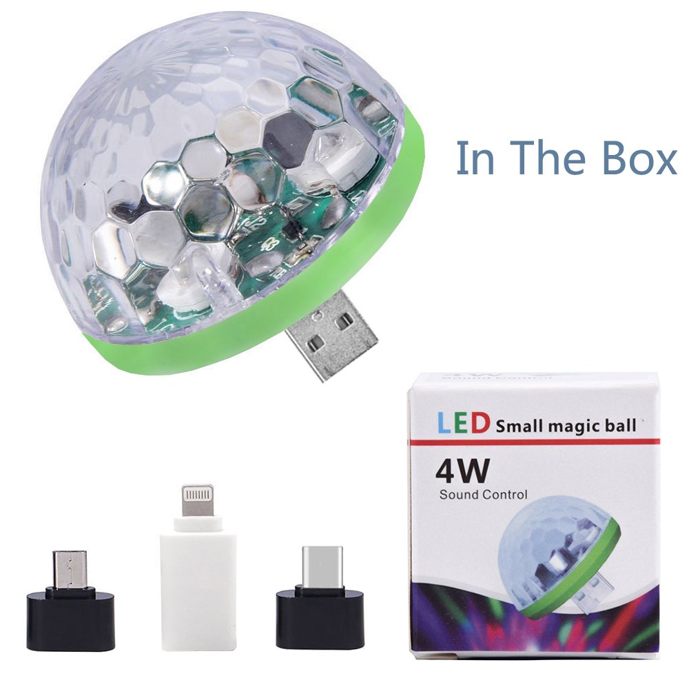 USB Lightning Micro USB USB-C Disco Ball 5