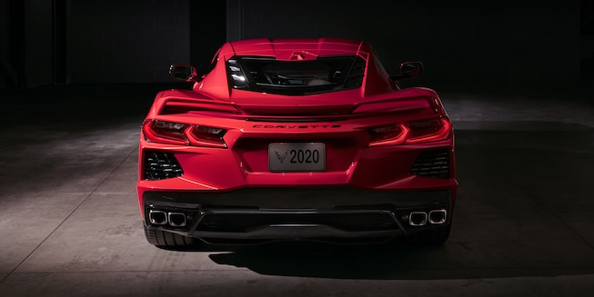 2020 Chevrolet Corvette C8 Stingray Red Rear