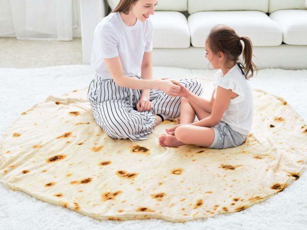 CASOFU Burrito Tortilla Throw Blanket 2