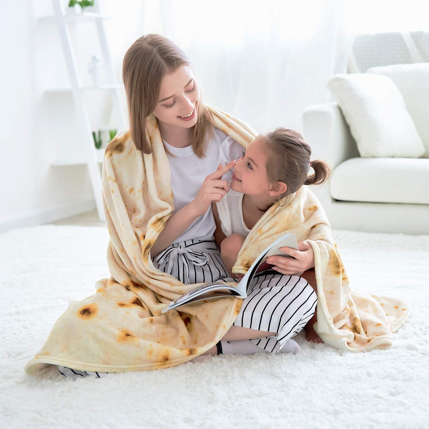 CASOFU Burrito Tortilla Throw Blanket 6
