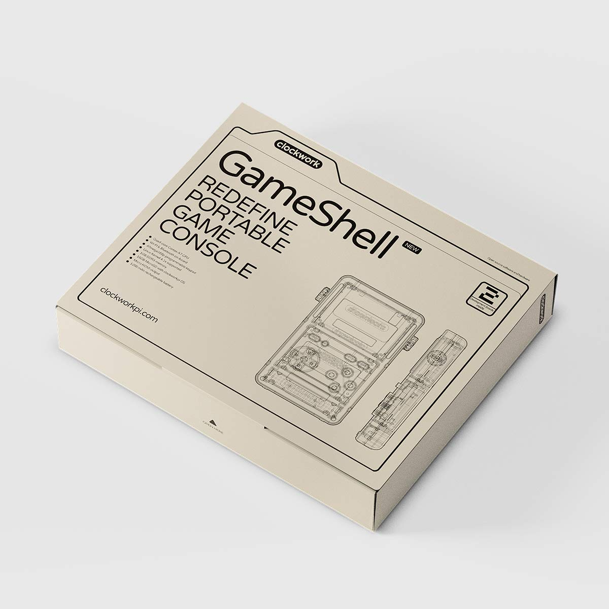 Clockwork GameShell Portable Game Console Box